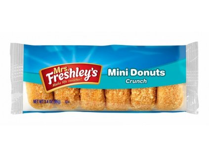mrs freshleys crunch mini donuts 6pk