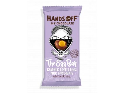 Hands Off My Chocolate The Egg Bar Crushed Toffee Eggs Milk Chocolate 105g